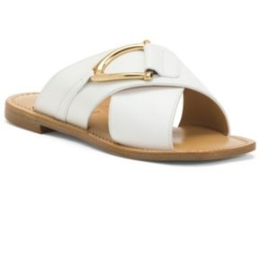 Made in Italy Flat Leather Sandals